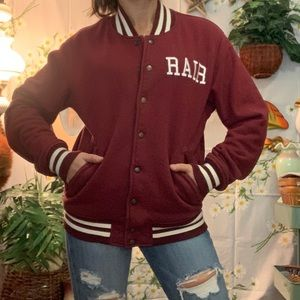 American Apparel Amelia burgundy cotton bomber
